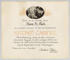 Kitchen Cabinet President Kitchen Cabinet U201d Certificate U S Vice President Richard U2026 Flickr