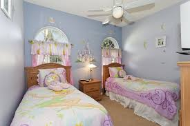 Pink Themed Bedroom - bedroom tinkerbell bedroom with small pink comfort bed also