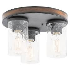 amazing flush mount kitchen light fixtures kichler barrington 11 5