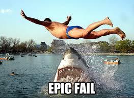 Epic Fail Meme - epic fail epic fail shark quickmeme