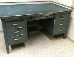 metal desk with file cabinet antique metal steel desk steampunk industrial brass deco