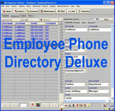 Free Employee Database Template In Excel by Employee Phone Directory Deluxe Database Management Software