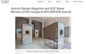 Interior Design Magazine Awards by Zanellato Bortotto Cedit Won Interior Design Magazine Award In New