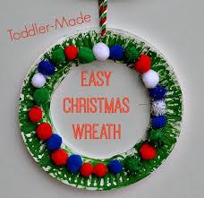 Christmas Party For Kids Ideas - christmas crafts for kids easy christmas wreath for toddlers