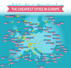Europe Cities Map by The Cheapest Mini Break Destinations In Europe Revealed Daily