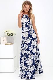 light blue halter maxi dress sleeveless blue halter neck floral print vintage long boho dress