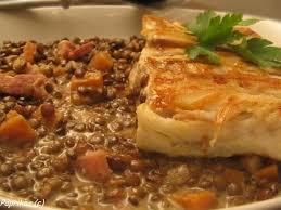 cuisiner du colin recette de colin aux lentilles crémeuses la recette facile