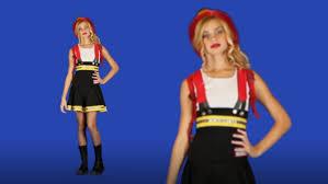 fire costume halloween teen firefighter cutie costume dress youtube