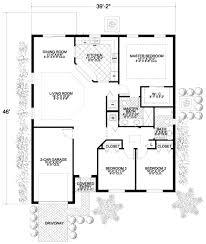 home floor plans mediterranean mediterranean style house plan 3 beds 2 baths 1453 sq ft plan