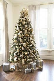 vermont white spruce tree decorated with the silver and gold