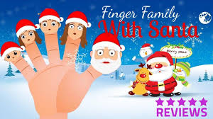 happy merry santa claus finger family song for
