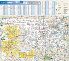 United States Map With Cities And Towns by Large Roads And Highways Map Of Oklahoma State With National Parks