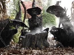 Halloween Outdoor Decorations 98 Best Halloween And Christmas Fairy Gardens Images On Pinterest