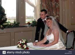 bridal register signing the register christmas wedding thorpe