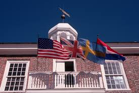 Deleware Flag Balcony Of Old Court House Delaware Pictures Delaware