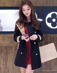 women korean fashion slim fit long boucle jacket winter clothes