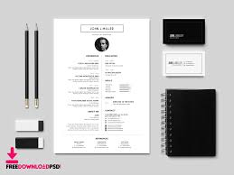 Best Free Resume Templates Clean Resume Template Free Psd Freedownloadpsd Com