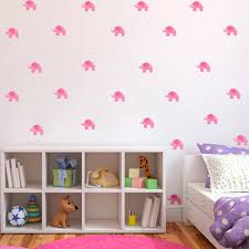 aliexpress com buy 6 sheets diy pink elephant wall stickers