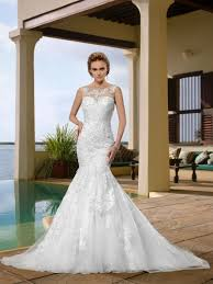 trumpet wedding dresses gorgerous sleeveless scoop appliques trumpet wedding dress