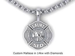 custom necklace pendants firefighter maltese cross necklace pendants firedog jewelry