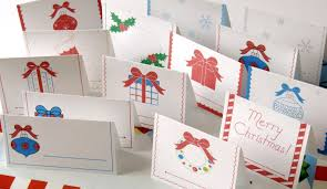 christmas place cards printable christmas place cards