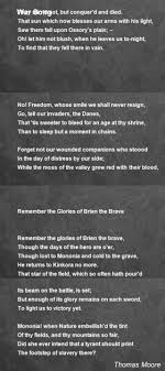 war song poem by poem