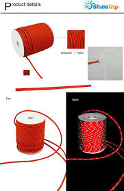 Awning Cord 20 30 50m Reflective Camp Awning Cord Paracord Tent Reel Roll Guy