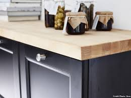 cuisine plan de travail bois massif plan de travail pour cuisine matériaux cuisine maison créative