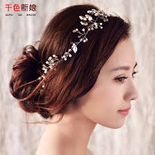 headband handmade hair ornaments pearl jewelry marriage