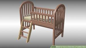 How To Convert A Graco Crib Into A Toddler Bed How To Turn A Crib Into A Toddler Bed With Pictures Wikihow