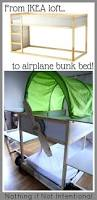 Ikea Tuffing Bunk Bed Hack Ikea Bed Hack Kura Loft Turned Into An Airplane Bunk Bed