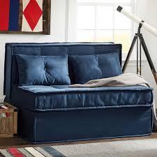 Navy Sleeper Sofa Cushy Sleeper Sofa 47 25 Pbteen