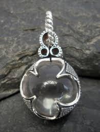 rock crystal quartz necklace images Large sterling silver rock crystal quartz sphere pendant double jpg