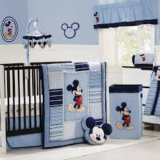 small bedroom with wooden furniture set and soft blue for boys