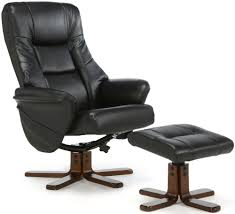Faux Leather Recliner Buy Serene Drammen Black Faux Leather Recliner Chair Online Cfs Uk
