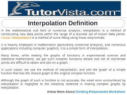 Dividing Polynomials Worksheet Interpolation Definition By Tutorvista Team Issuu