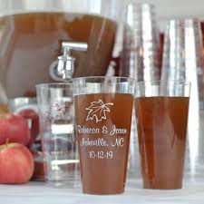 clear plastic disposable fall design cups 16 oz personalized