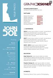 Free Graphic Resume Templates Graphic Designers Single Page Resume Creative Resume Templates