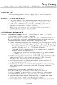 Job Objective In Resume by Resume For Supply Chain Management Susan Ireland Resumes