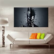 art painting for home decoration batman canvas painting quote canvas art print poster wall