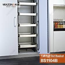 aliexpress com buy kitchen cabinet storage organizer pull out aliexpress com buy kitchen cabinet storage organizer pull out pantry tall cabinet linkage sliding basket bs1104b from reliable cabinet safe suppliers on