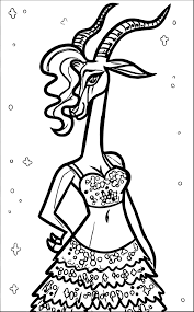 gazelle from zootopia coloring page wecoloringpage