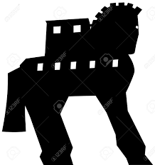 trojan horse silhouette vector royalty free cliparts vectors and