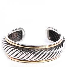 gold silver cuff bracelet images David yurman sterling silver 18k gold sculpted cable cuff bracelet jpg