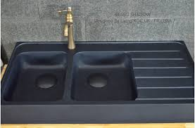 Kitchen Sink Black 1200 Bowls Black Granite Kitchen Sink Besso Shadow