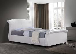 Leather Sleigh Bed Fancy White Leather Sleigh Bed With White Leather Sleigh Bed Frame
