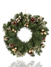 pine cones and gold berries spruce christmas wreath m u0026s