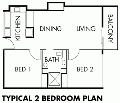 Bedroom Plan Two Bedroom Self Contained Building Plan U2013 Home Plans Ideas