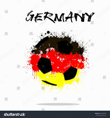 The Germany Flag Abstract Soccer Ball Painted Colors Germany Stock Vector 420876523