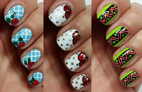 3 easy nail art designs for short nails freehand youtube
